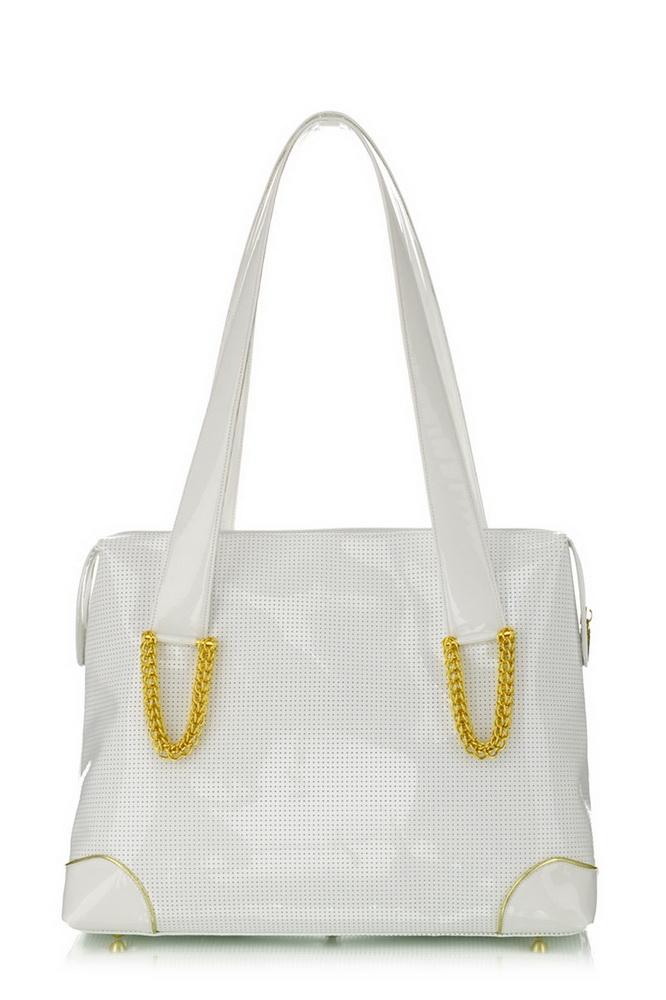 feher-szinu-bortaska-egyedileg. Női fehér nagyméretű bőrtáska Exclusive  nagyméretű fehér bőrtáska Női fehér lakkbőr táska ... 5090867848