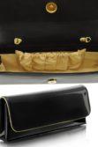 Fekete arany lakkbőr alkalmi táska