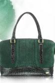 Méregzöld női táska