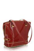 Piros lakkbőr női táska