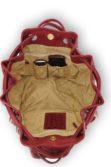 Piros női variálható táska