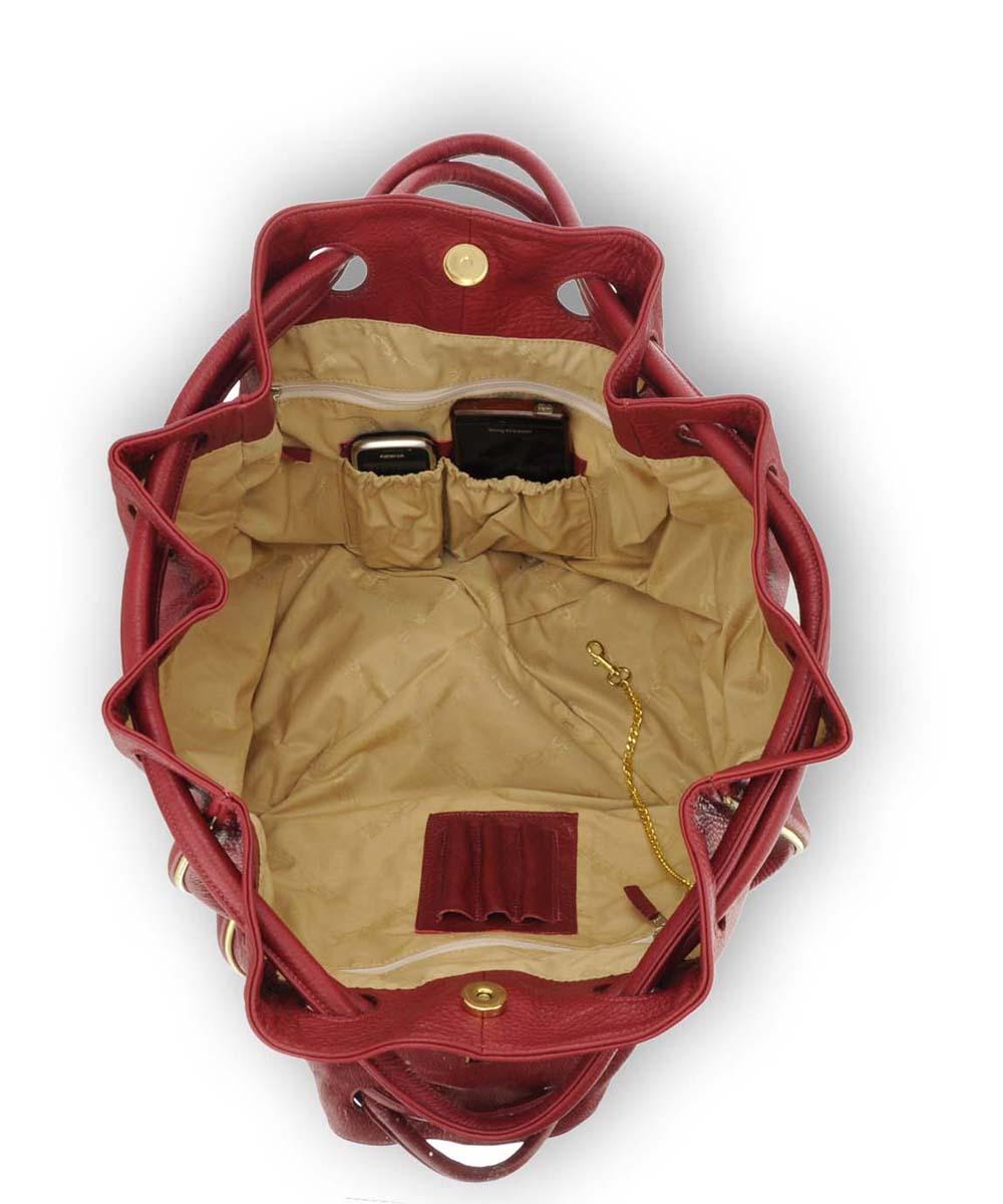 ... Piros női variálható táska Női valódi bőrtáska Piros ... df92642ac8