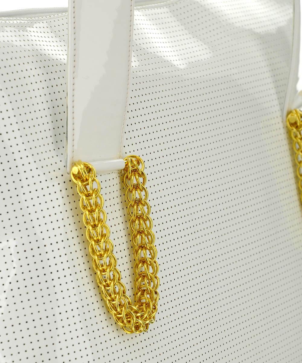 Női fehér nagyméretű bőrtáska Exclusive nagyméretű fehér bőrtáska Női fehér  lakkbőr táska ... 4a871d0916