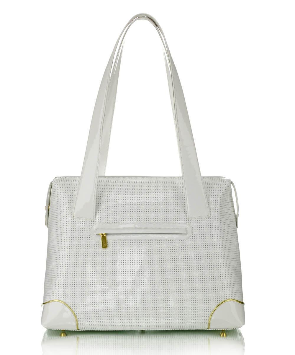 Női fehér nagyméretű bőrtáska Exclusive nagyméretű fehér bőrtáska Női fehér  lakkbőr táska Fehér nagy női bőrtáska ... a0696a79c7