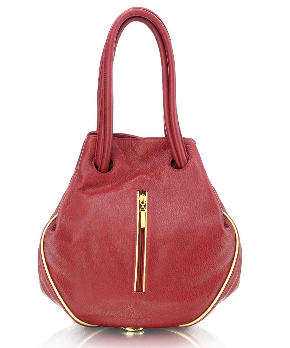 Női bőr többfunkciós táska Piros bőr divattáska ... 60e6dba5b2