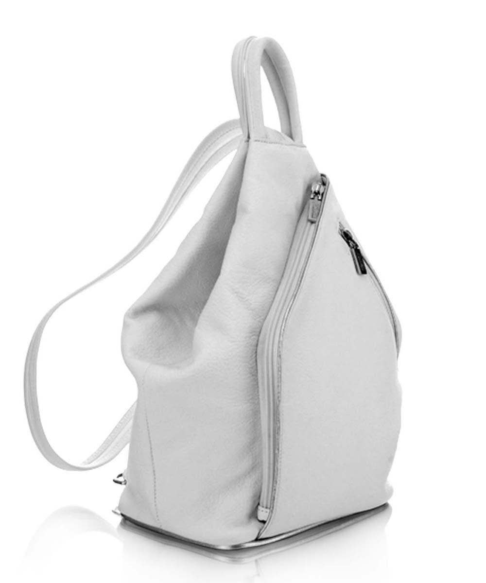... kézitáska Többfunkciós bőrhátizsák Törtfehér bőr hátizsák válltáska  Fehér női bőrhátizsák ... 955b07496c